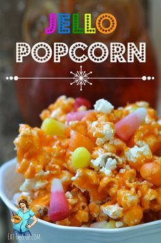 Check out this easy Jello Popcorn recipe!  It would be so easy to make popcorn balls with and easy to customize with your favorite Jello flavor!