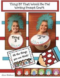 """Thing 3 That Would Be Me"" super-fun writing prompt craft & great way to get to know your students. Completed projects make an adorable bulletin board too. Great Icebreakers, Fun Writing Prompts, Dr Seuss Day, Hair Patterns, Simple Prints, Shot Photo, Back To School Activities, Crazy Hair, Getting To Know You"