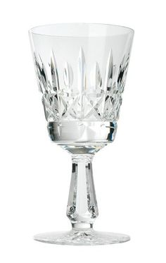 $200.00 The Kylemore Goblet is a handcrafted stem that is a traditional Waterford shape with upright blaze cuts that are intersected by band cuts creating clear squares that have been cut with a star.  This glass also has a stem designed with flat cuts adding to the sparkle of the crystal.