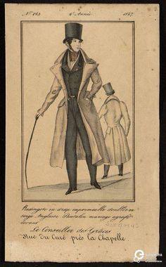 """""""Le Conseiller des Grâces"""" n. 143, Tallois, rue du Curé, près de la Chapelle, 1827. Courtesy Bibliothèque royale de Belgique, all rights reserved."""