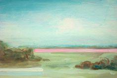 Pink Dawning Traveling original acrylic painting by rowenamurillo,