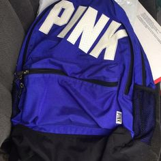 Vs pink blue campus backpack Rare! I haven't seen a whole lot of these blue ones around! Never been used and in very good condition! Great for college or high school students who need a spacious bag! 68$ on Merc! :) PINK Victoria's Secret Bags Backpacks