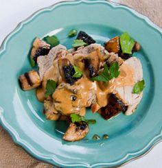 Pork Tenderloin (fillet) with Creamy mushrooms