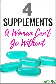 4 Supplements A Woman Can't Afford to Go Without | Supplements for Women for Weight Loss | Supplements to Lose Weight | Avocadu.com