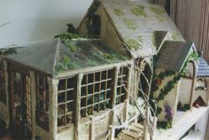 The roof is also papier-mâché and we used the bell tower to make an owl house to sit alongside the cottage. Description from dollshouseblog.com. I searched for this on bing.com/images