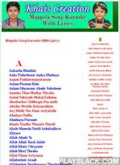 Khais Mappila Song Karaoke  Android App - playslack.com , Khais Creation Malayalam Mappila Song Karaoke With Lyrics