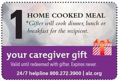 Looking for an easy, meaningful gift for #caregivers? Just click, print and give a holiday coupon book! #caregiver #caregiving