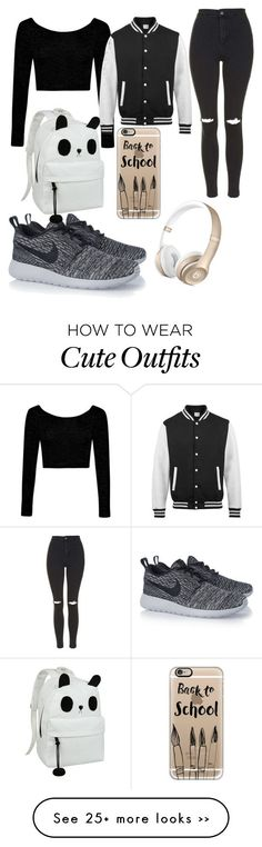"""My First Polyvore Outfit"" by milinkayaa on Polyvore featuring Boohoo, Topshop…"