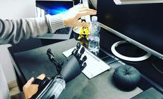 Learning to use the Hand . #bionic #robot #design #DIY #industrialdesign #prosthetics #instagood #3dprint #follow #3D #3dmodel #cosplay #cyborg #mechatronics #medical #beautiful #technology #amazing #style #cool #ironman #maker #arduino #RaspberryPi #mechanics #animation #look #instagood #selfie #love #inspiration