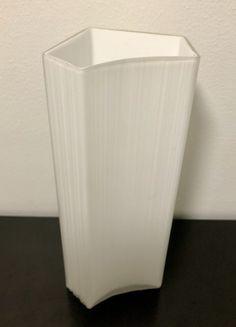 Tapio Wirkkala 3504 White Dimmed Crystal Glass Vase - Finnish Mid-Century Modern Vintage Design Glass from Iittala, Finland Glass Design, Finland, Vintage Designs, Mid-century Modern, Glass Vase, Mid Century, Crystals, Home, Ad Home