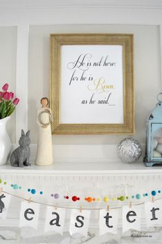 FREE printable Easter Sign for your Easter Decor or Easter Mantel | theidearoom.net