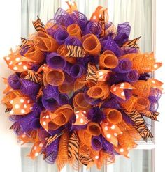 fall deco mesh wreath ideas - Google Search