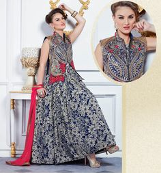 #DesignerGown #Traditional #look  Place Your Order On whats app>>+91-8488993000 Visit>>www.styleofsurat.com