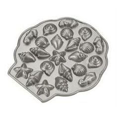 Nordic Ware Platinum Sea Shell Tea Cakes Pan from Kitchen and Company..cream cheese mint molds, maybe..