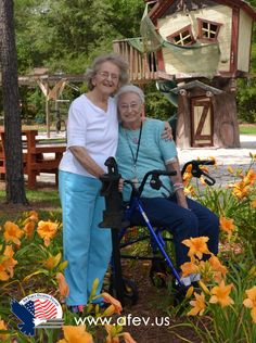 #HawthornHouse residents stop to smell the lilies!