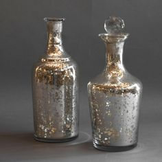 Decorative Old Mercury Glass Demijohns from Viola Gallery