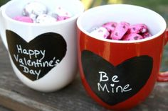 Start her morning off with a fresh cup of coffee and a love note. This simple project turns an inexpensive coffee mug and a little chalkboard paint into a personalized gift perfect for him or her.  Source: The Weekend Homemaker