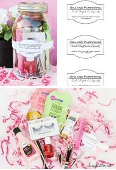 Spa in a Jar | Click Pic for 24 DIY Christmas Gifts for Teen Girls | Handmade Gift Ideas for Teen Girls