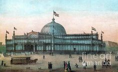 New York Crystal Palace, 19th Century Print by Photo Researchers