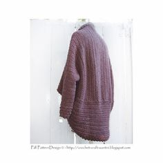 Sophie and Me: FOLD AND CUFF CROCHET SHAWL CARDIGAN!