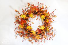 Easiest Fall Wreath EVER! - Pretty Handy Girl