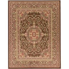 Ottomanson Traditional Oriental Medallion Brown 3 ft. 11 in. x 5 ft. 3 in. Area Rug - RYL1078-4X6 - The Home Depot
