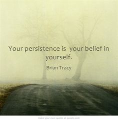 Your persistence is your belief in yourself.