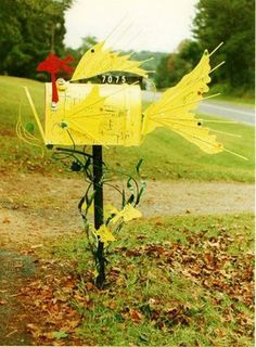 Motorcycle parts mailbox custom cool motorcycles for Creative mailbox ideas