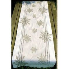 Silver Snowflake Table Runner