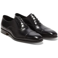 Salvatore Ferragamo Captoe Oxford (33,300 PHP) ❤ liked on Polyvore featuring men's fashion, men's shoes, men's oxfords, black, mens black oxford shoes, mens oxford shoes, salvatore ferragamo mens shoes, mens cap toe shoes and mens black shoes