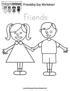 friends coloring pages for preschoolers | friendship coloring pages for preschool | friends coling ...