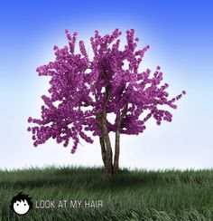 """""""Cherry-like"""" tree created with LAMH instancing feature Look At Me, My Hair, Plants, Cherry, Image, Flora, Plant, Planting"""