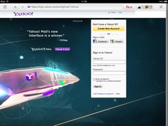 Yahoo mail, one example of many with sign up on the right