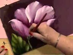 Como pintar flores | Tecnica americana | Manos a la Obra - YouTube