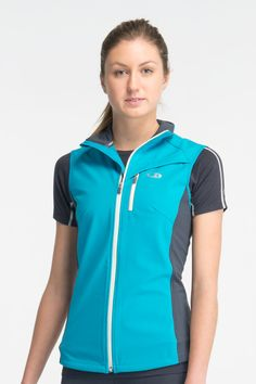 Super lightweight Gust Vest with merino inner, polyurthane middle layer & polyester outer layer. These features ward off the rain, protect against the wind and for next-to-skin comfort. Only $199.99. #organic_clothing