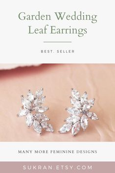 Sparkly and perfect size earrings for your wedding day.