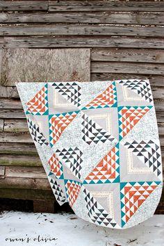 owen's olivia: Birchen Quilt Top for Fat Quarter Shop + Art Gallery Fabrics