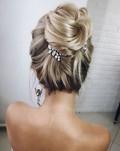 Lenabogucharskaya Bridal Wedding Hairstyle Updos #bride #bridal #wedding #weddinghairstyles #hairstyles #weddinginspiration
