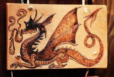 Smaug the Dragon - Wood Burning by Norseman Arts.