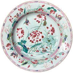Plat canards en porcelaine de Chine d'époque Yongzheng