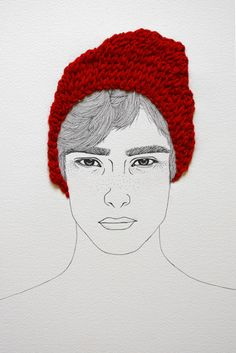 Izziyana Suhaimi's Embroidered Drawings.  See another : http://pinterest.com/pin/47217496064690827/  /\rtƒul sTudℽ ◙f mAGIcal::FIbERs#1
