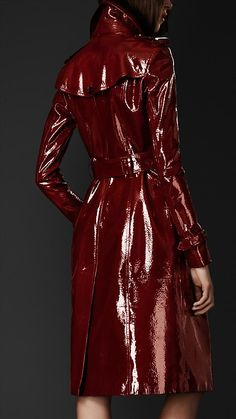 Laminated Leather Trench Coat ..Burberry. If $3,000 was all i had to my name, id buy this coat