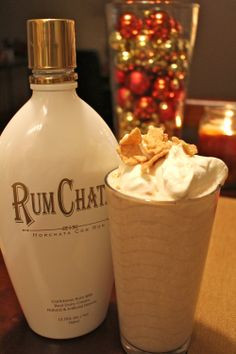 This is for you Aunt Janet! Perfect for a holiday get together! Dessert Drinks, Party Drinks, Cocktail Drinks, Fun Drinks, Yummy Drinks, Alcoholic Drinks, Cocktails, Caribbean Rum, Cinnamon Toast Crunch