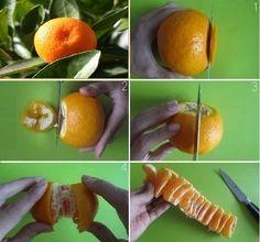 DIY How to Peel Mandarin