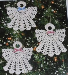 Free holiday Crochet Patterns  | Home Crochet Patterns Christmas Angel Ornament Crochet Pattern (4545)