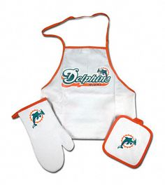 $29.99 Miami Dolphins Tailgate & Kitchen Grill Combo Set