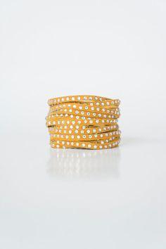Genuine Leather Bracelet Light Brown Mustard Bracelet Wrap Bracelet Layer Bracelet Swarovski Bracelet Beaded Bracelet Friendship Bracelet Fa #etsymnt #leather