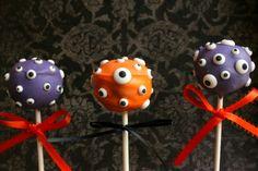 Halloween cake pops monstre