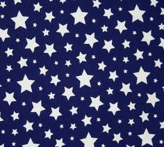 3777a95c0e0 White Stars on Navy Blue Red Lime Green or Amber Yellow Cotton Lycra Knit  Jersey Fabric