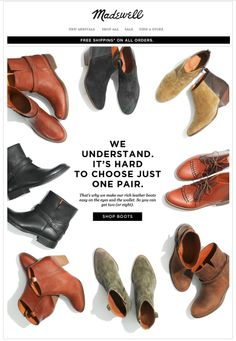 Madewell Boots Sale Email Design